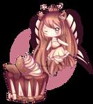 Mocha Butterfly Cupcake