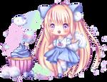 Coconut Cotton Candy Cupcake | Speedpaint