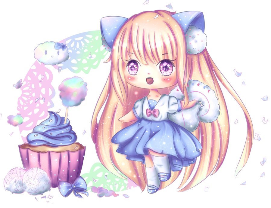 Coconut Cotton Candy Cupcake | Speedpaint