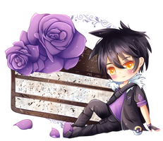 (C) Purple chocolate cake