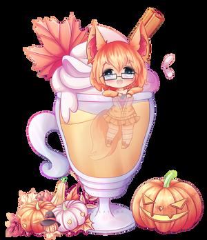 (YCH) Pumpkin Spiced Kitty