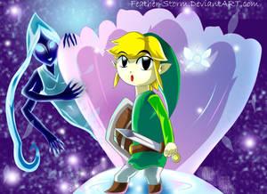 Toon Link in Fairy Fountain