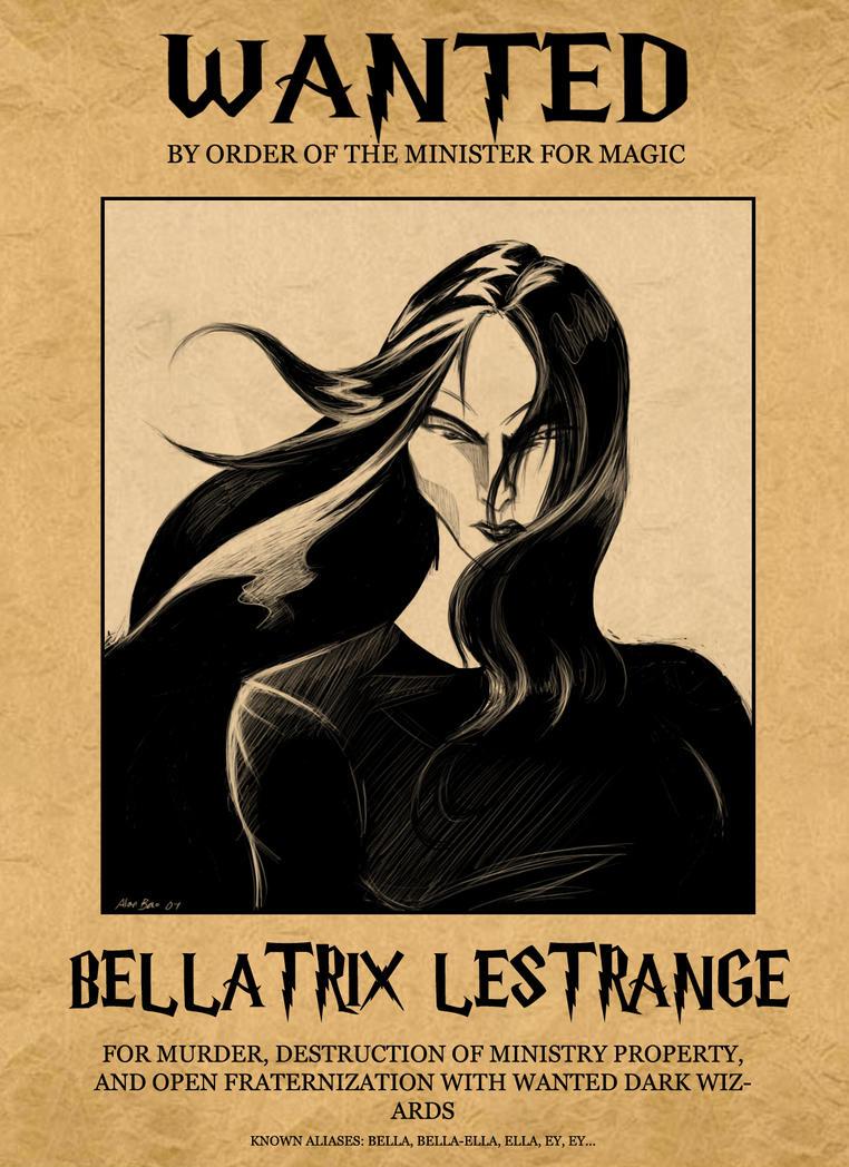 how to draw bellatrix lestrange step by step