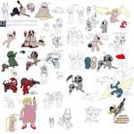 reeaallyy big TBOI doodle dump