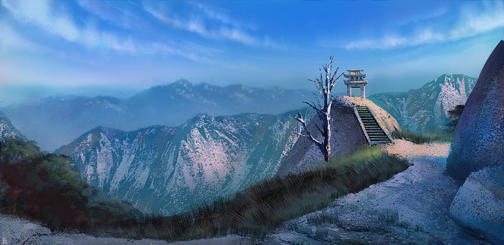 Mount Hua by myriamelle
