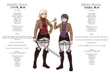 [SNK OC] Survey sisters by Kuroguns