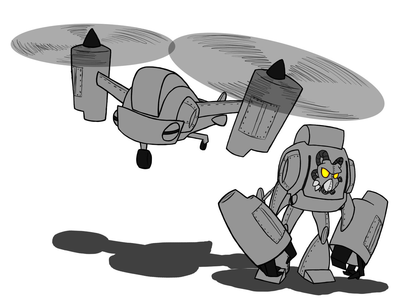 Enclave Vertibird Transformer by BlakerOats