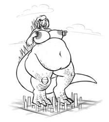 A cute Godzilla Girl by BlakerOats
