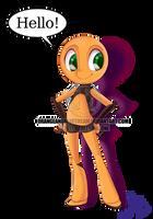 Olive arms Akimbo by Orangeandbluecream