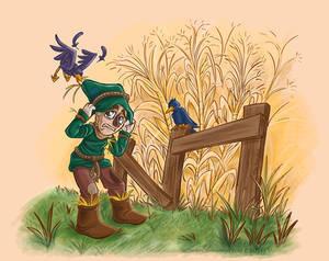 Scarecrow vs the crows