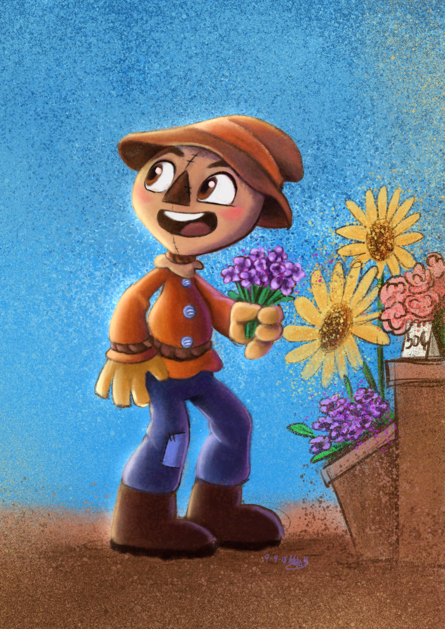 Scarecrow doodle by Orangeandbluecream
