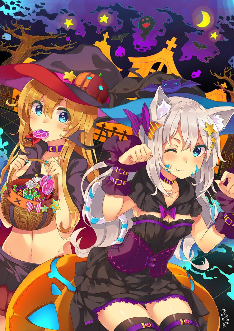 Happy Halloween by Nekomicha