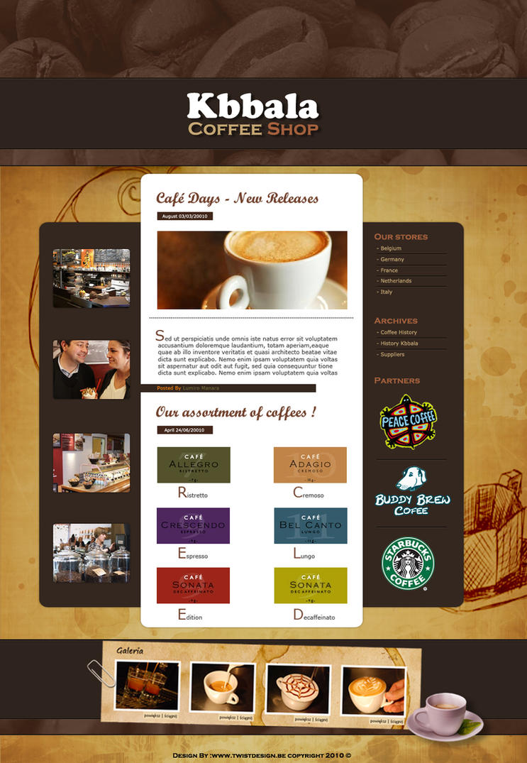 kbbala coffee shop by twisted355 d34zkhx Creatively Inspired Web Interface Designs