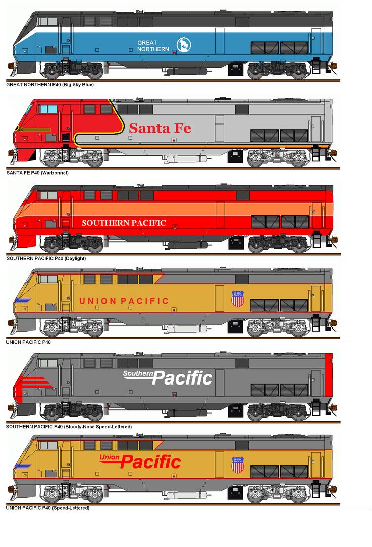 Freelance Railroad P40 Paint Schemes by Pb1kenobi