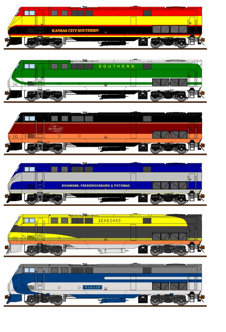 Freelance Railroad P40 Paint Schemes #2 by Pb1kenobi