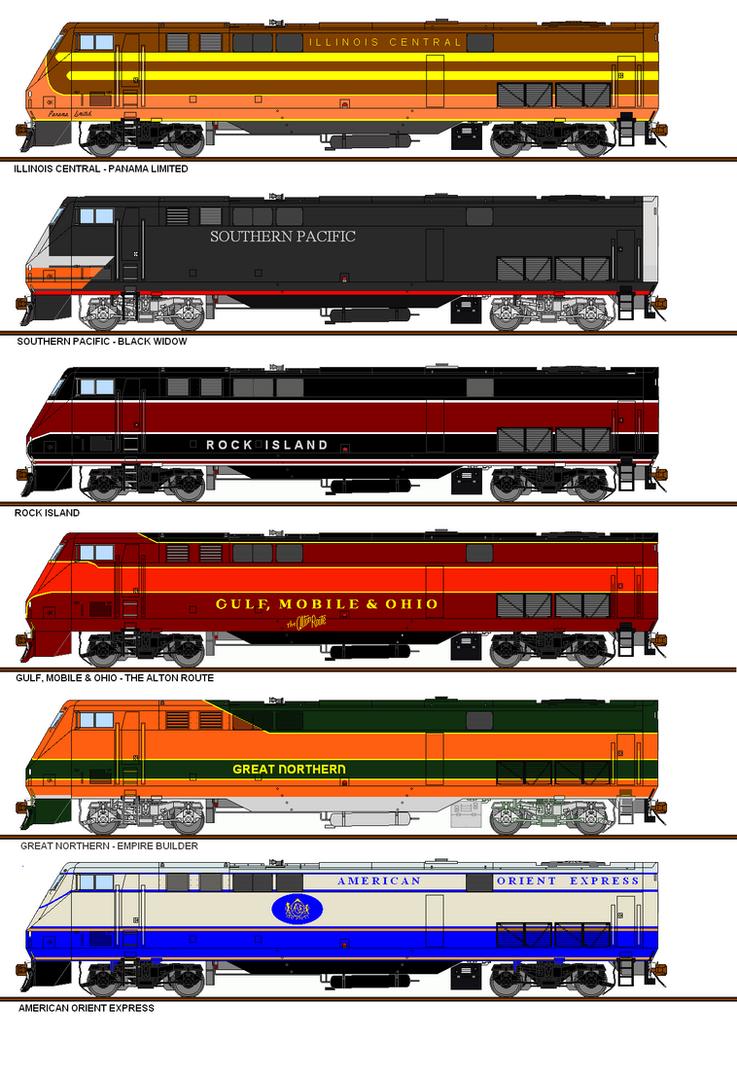 Freelance Railroad P40 Paint Schemes #3 by Pb1kenobi