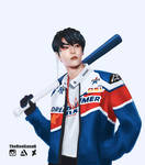 Doyoung With a Baseball Bat by TheRealLunaQ