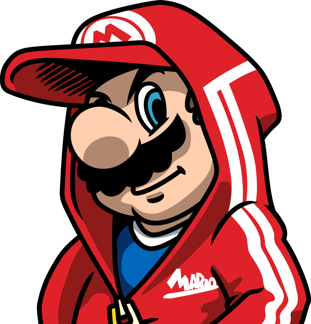 how to draw gangster mario