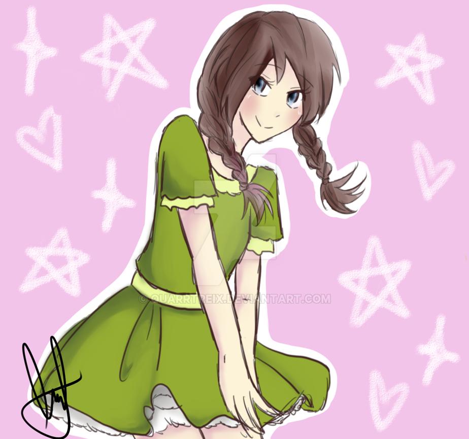 Green Dress by Quarrtreix