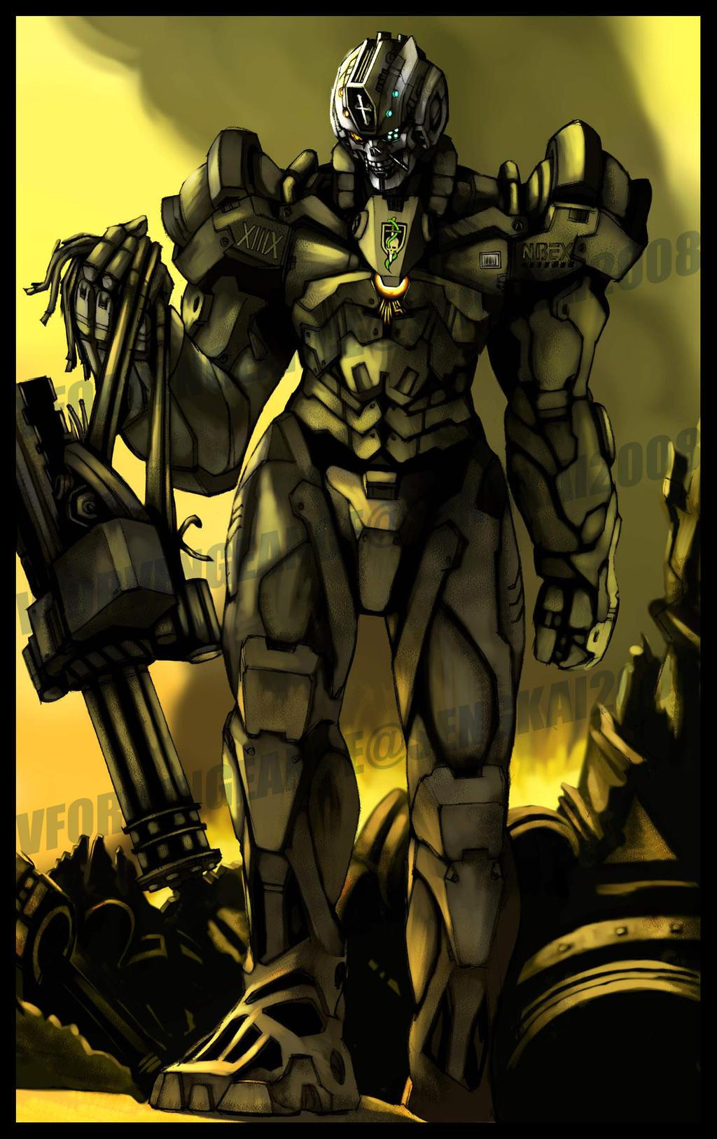 NBEX-XIIIX Dark Skull by vforvengeance