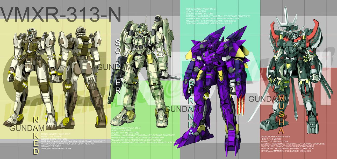 Gundam: Naked Concept by vforvengeance
