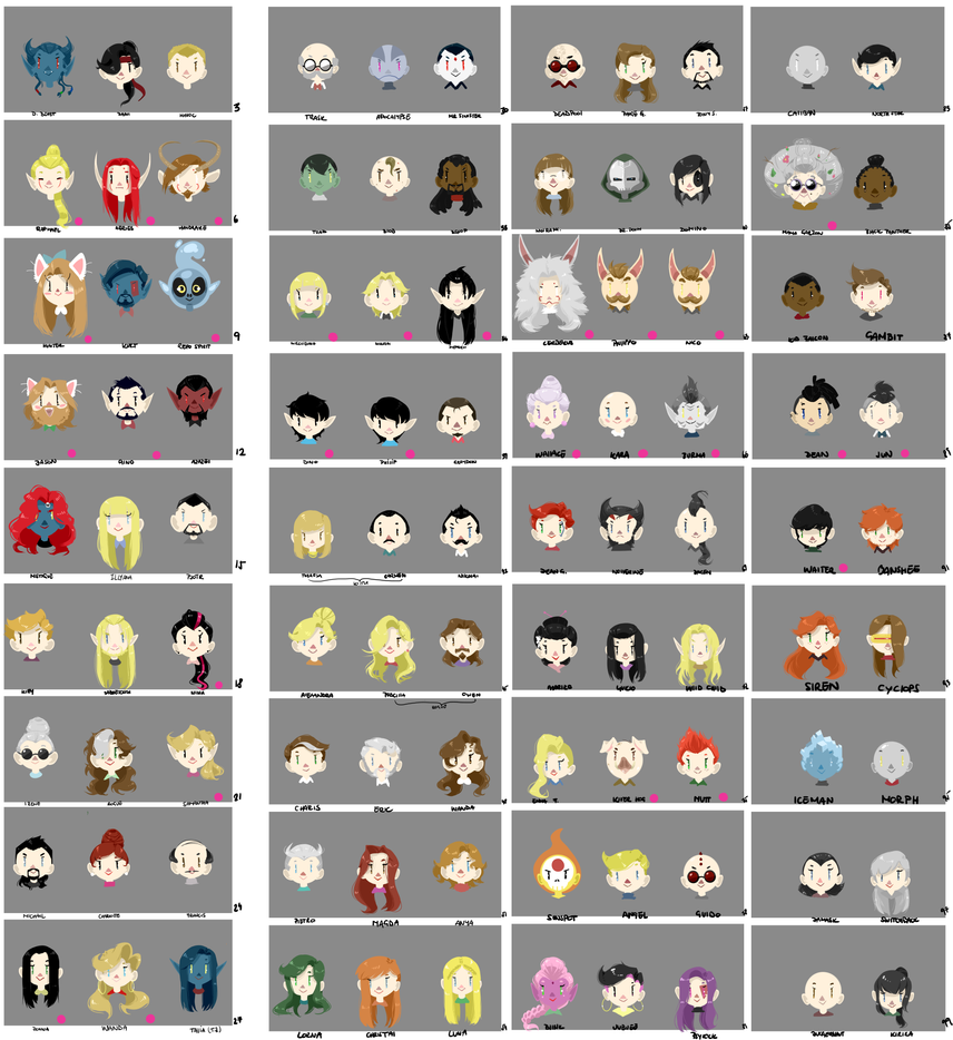 99 NAoA characters by SheYuki
