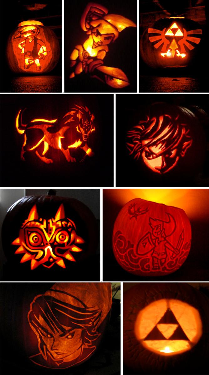 Zelda pumpkins carvings by lanzlink on deviantart
