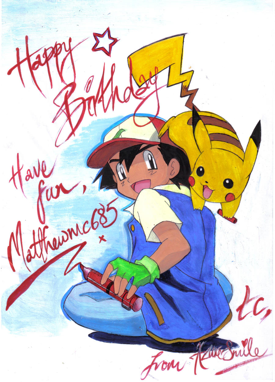 Happy Birthday Matthew by Azure-smile