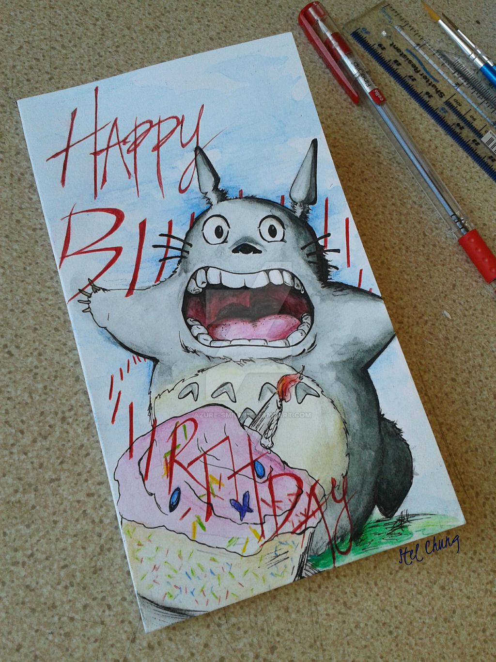 Handmade Totoro Birthday card 12314 by Azuresmile on DeviantArt – Totoro Birthday Card