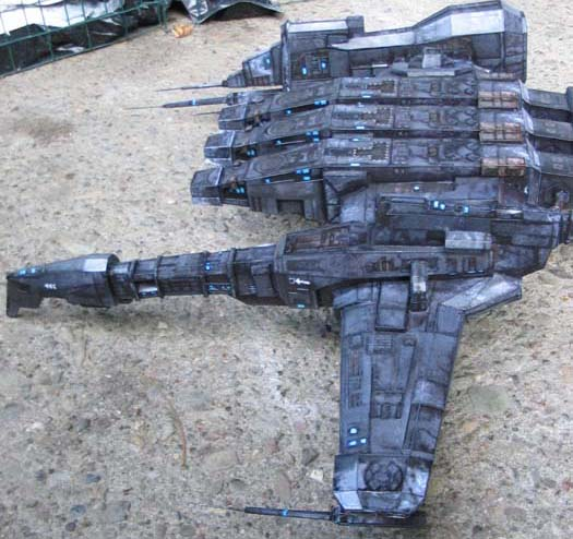 Caldari Kestrel paper model by pupumonkey