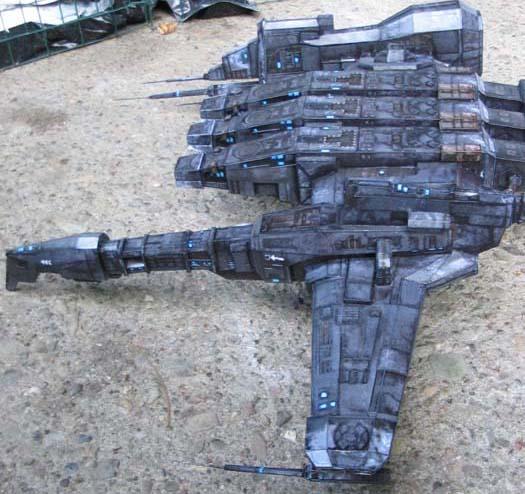 Caldari Kestrel paper model by pupumonkey