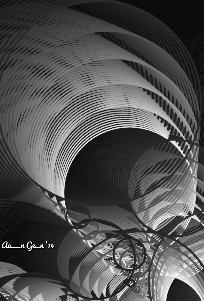 Spinning In Black And White by artistaaron28