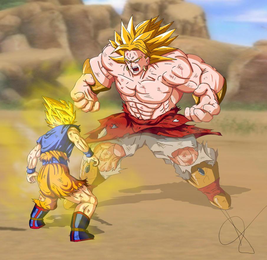 Goku Vs Broly by alleckx on DeviantArt