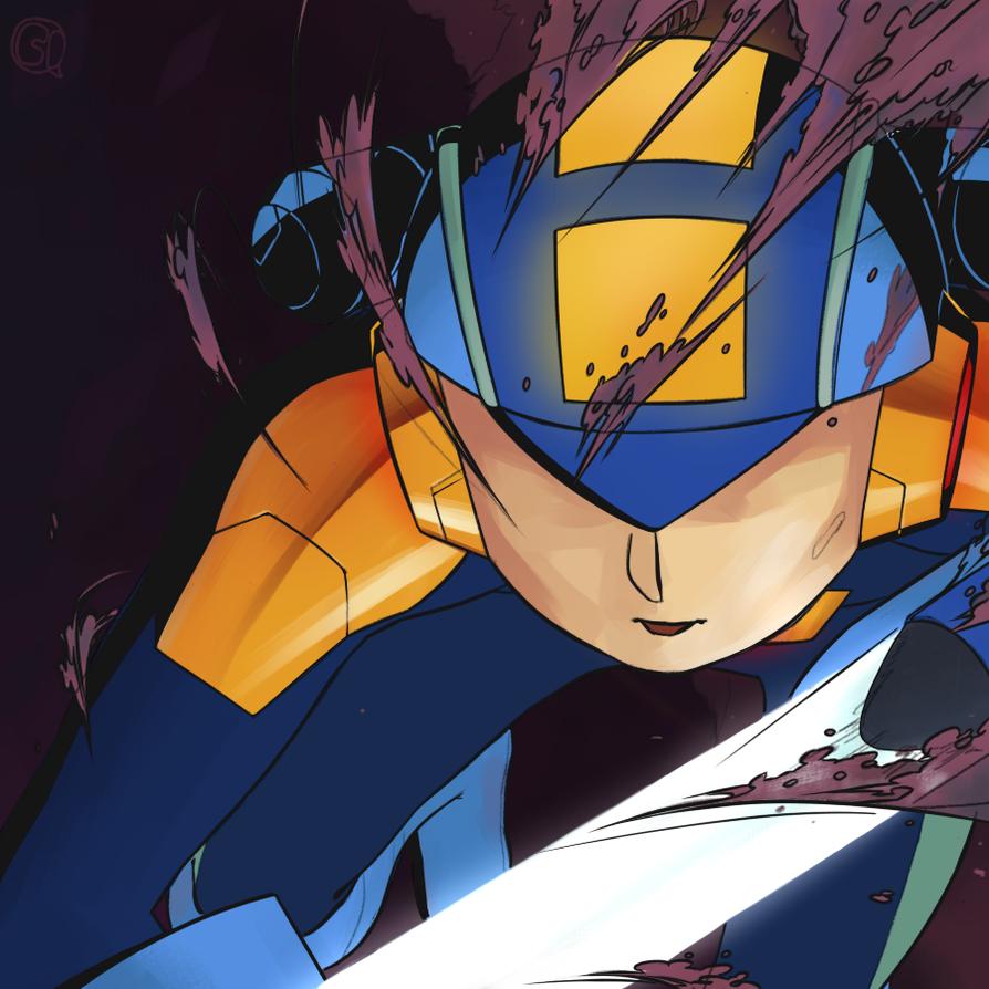 Megaman.EXE by corrupted-azero