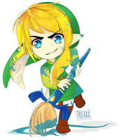 The Legend of Splatoon : Inkling Link by justfream