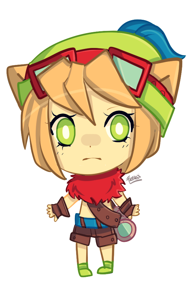 [Quick Chibi] Teemo Inspired Girl by JessicaFreaxx on ...  [Quick Chibi] T...