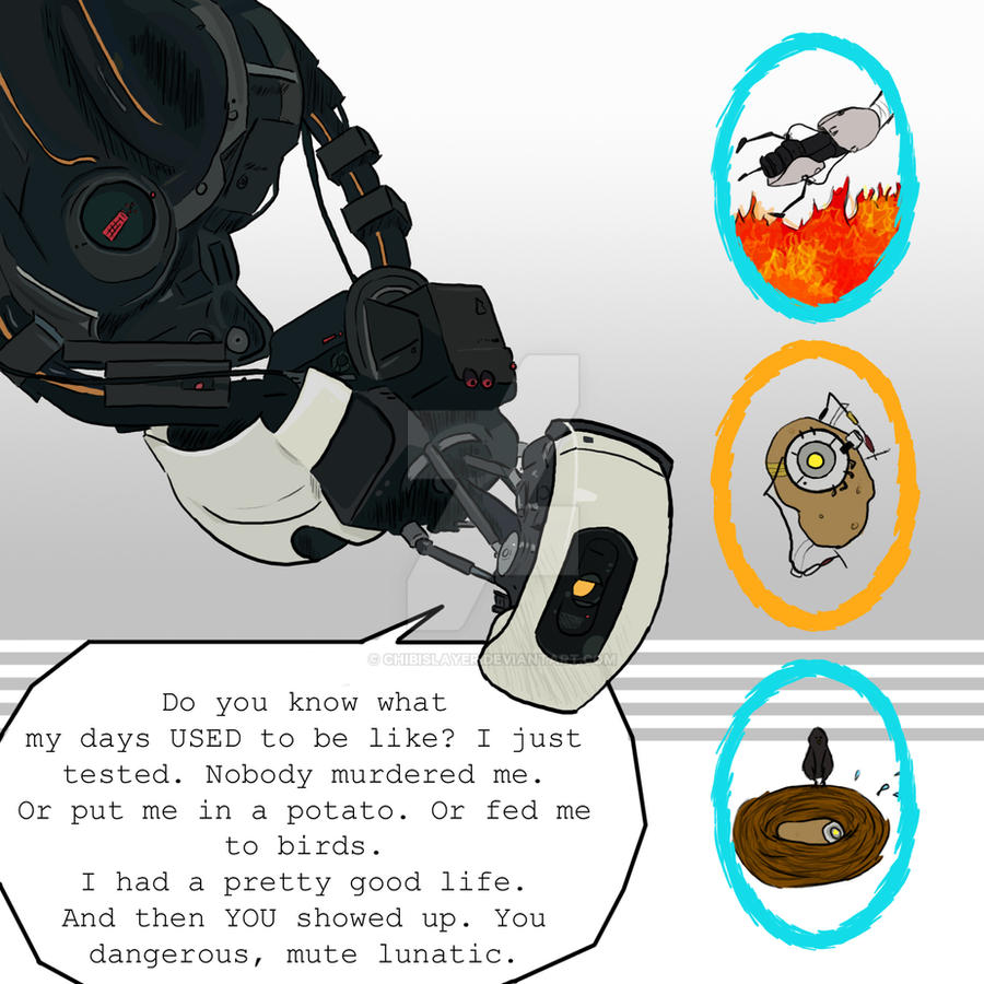 Glados portal 2 phrase by chibislayer on deviantart for 3 portals
