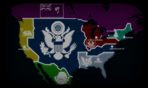 Kaiserreich, The 2nd American Civil War Map