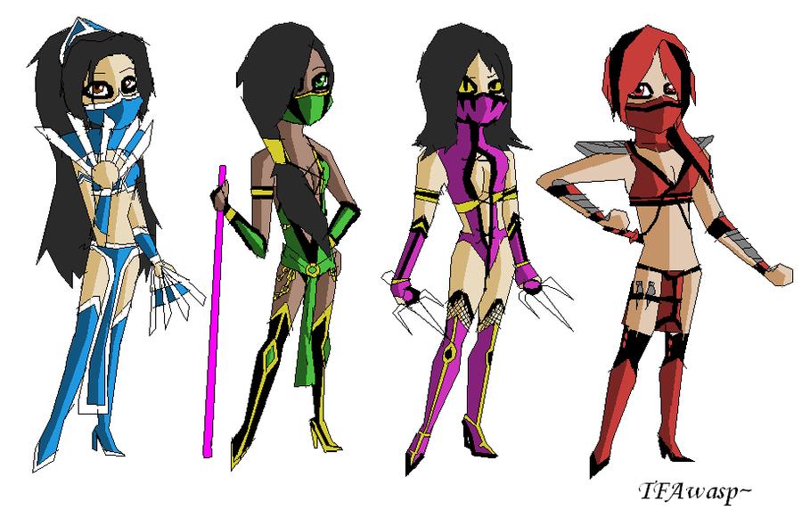 Image Gallery mortal kombat ninja girls