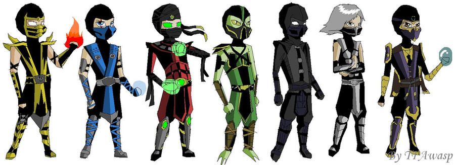 Ninjas of MK by DOOM4Rus on DeviantArt