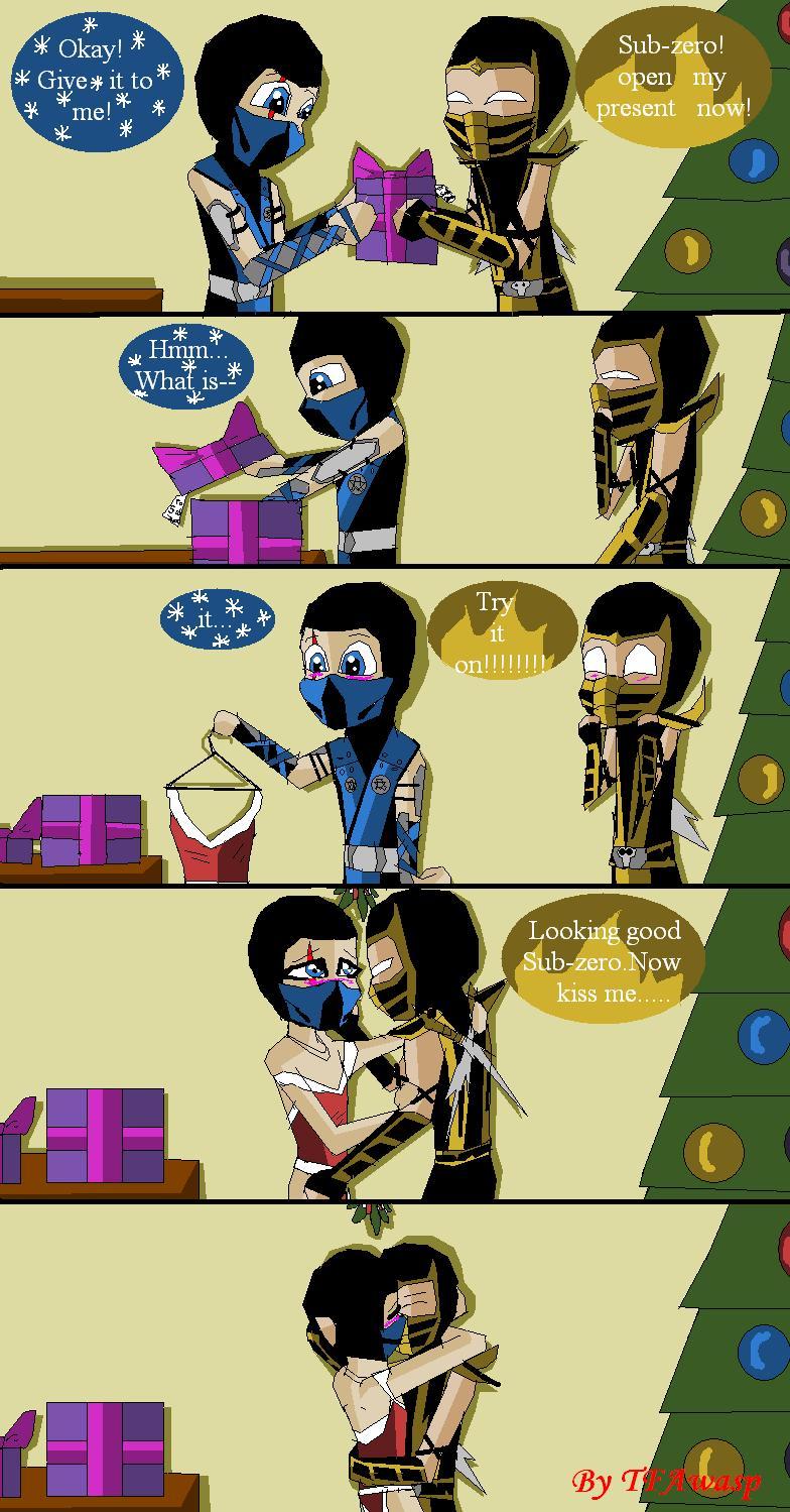 Christmas Scorpion And Subzero By Clindra On Deviantart