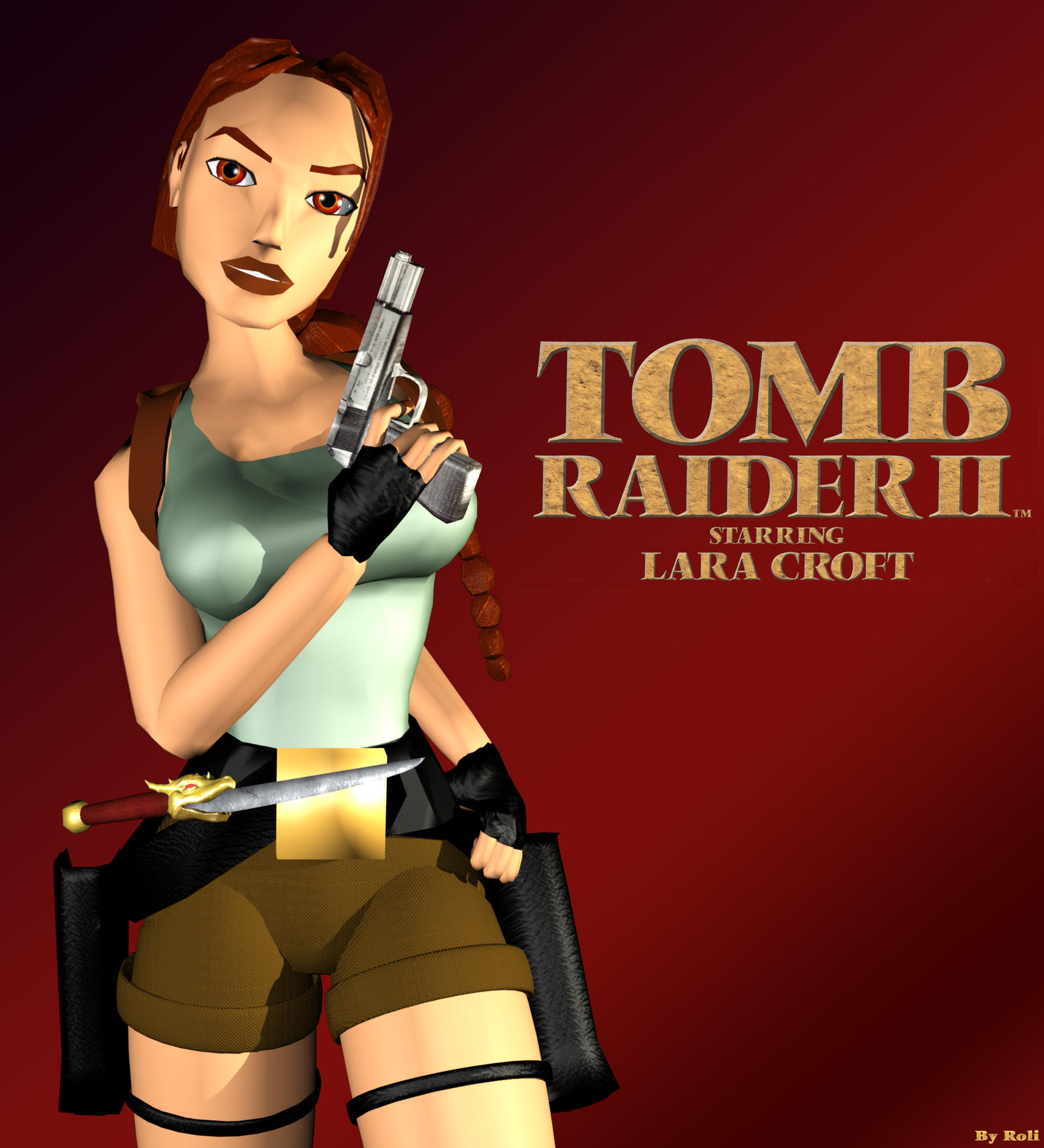 Classic Tomb Raider Wallpaper: Tomb Raider 2 Cover (Re-rendered) By Roli29 On DeviantArt