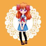 Chiyo Sakura in Sailor uniform