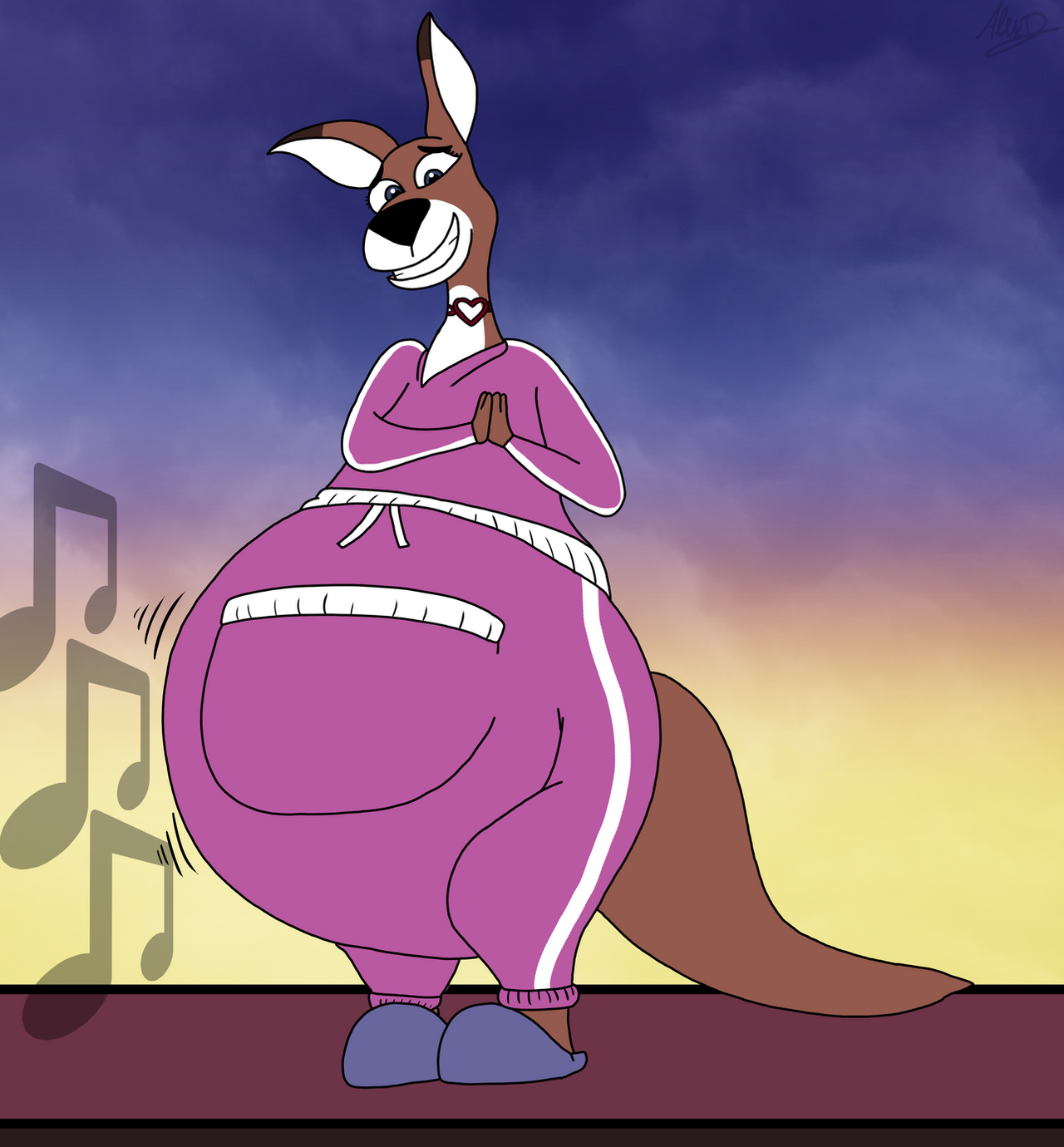 Mama's Musical Tummy By FurryLovePup On DeviantArt