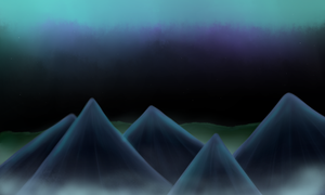 Midnight Mist Landscape