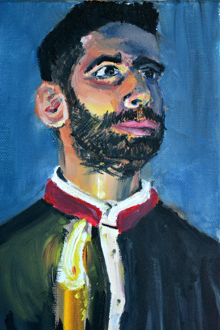 Portret of a young man oil on canvas by Dairanhill