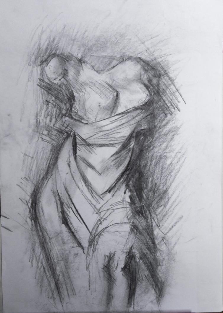 Aphrodite carbon sketch by Dairanhill