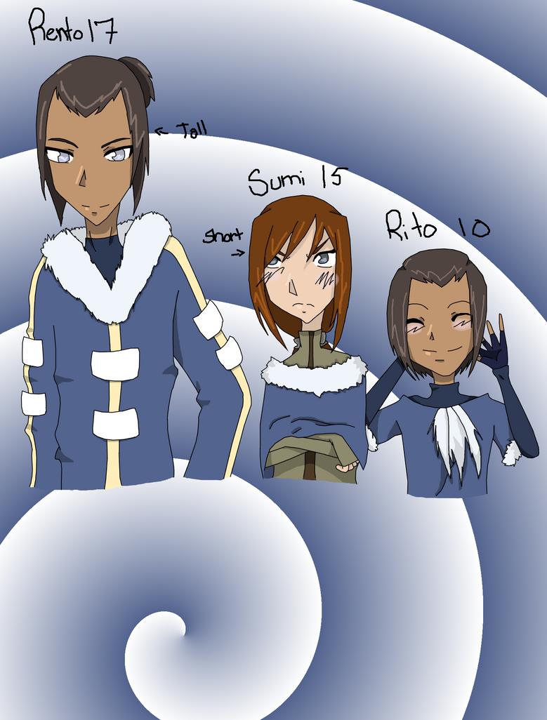 Sokka and Suki's kids :3 by ArdeMobile