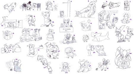 Doodle Dump: Not October by HoppityandBee