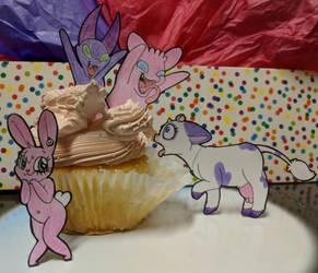 Monster Cake by HoppityandBee